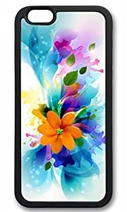 Abstract colorful flower art Thanksgiving Halloween Masterpiece Limited Design TPU Black Case for iphone 6 by Cases & Mousepads