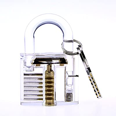Bullkeys Brand New Colorful Transparent Lock for Players Practice