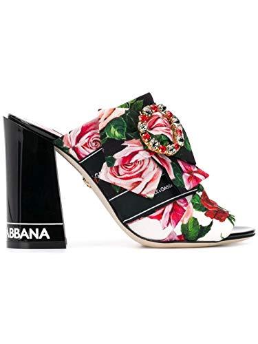 Dolce e Gabbana Women's Cr0750az718hax46 Black Leather Sandals