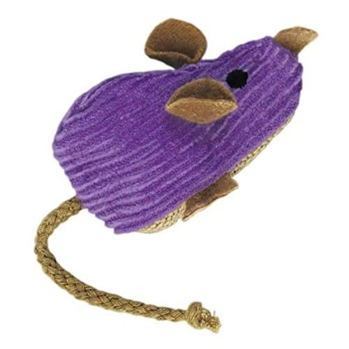 durable service KONG Corduroy Mouse Refillable Catnip Toy (Colors Vary)