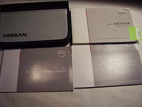 2007 Nissan Maxima Owners Manual