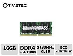 Timetec Hynix 16GB DDR4 2133MHz PC4 17000 ECC Unbuffered 1.2V CL15 2Rx8 Dual Rank 260 Pin Sodimm Server Memory Ram Module Upgrade (HMA82GS7MFR8N-TFT0) (16GB)