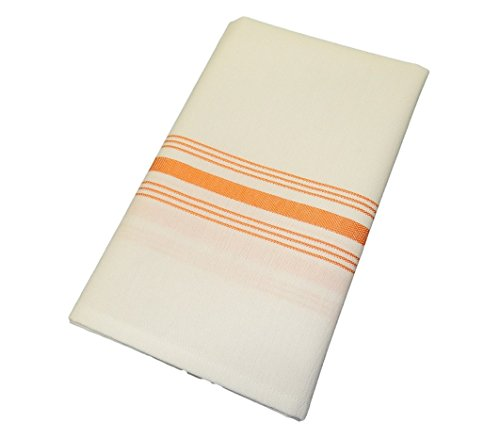 [Orange Milliken Signature Stripe Bistro Napkins - Set of 12] (Milliken Linens Supply)