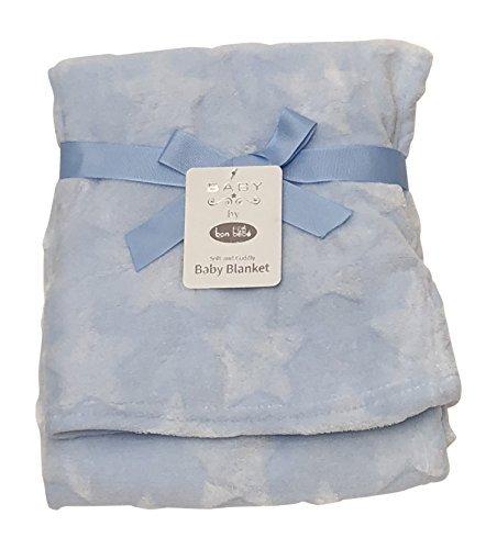 Bon Bebe Baby Infant Icon Embossed Blanket, Blue, One Size