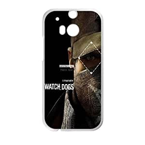HTC One M8 Cell Phone Case White af08 watchdogs pearce aiden connection is power BNY_6927928