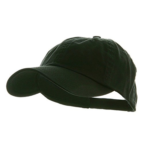 Low Profile Dyed Cotton Twill Cap - Black W39S55D (Dyed Balls)