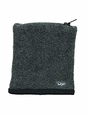 Sprigs Womens Fleece Banjee Wrist Wallet (Black/Charcoal)