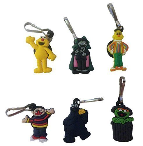 Sesame Street Snap Hook Zipper Pulls 6 Pcs Set (Sesame Street Hook)