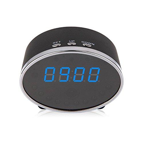Poray 1080P Clock Hidden Wifi Camera Remote Control Motion Detector Night Vision