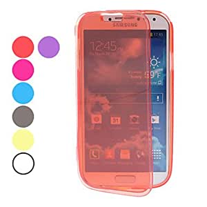 Transparent Soft TPU Full Body Case for Samsung Galaxy S4 I9500 (Assorted Colors) --- COLOR:White