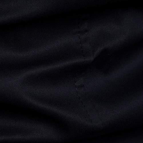 Blouse Sonnena Zipper Hommes Hiver Veste Manteaux Haut Poche Noir Unie Couleur Manteau Blouson Bouton À De Printemps Capuche FqwaFRr