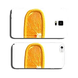 Orange fruit alphabet on white background. Letter l. cell phone cover case Samsung S6