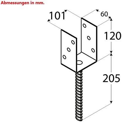Postes 101/mm postes ancla postes Soporte postes Botas sujetalibros Soporte con piedra Dolle