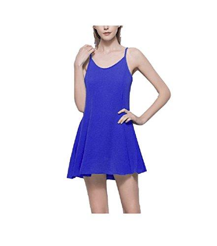 Robe De Plage Courte Bustier Femme Lingjiu Plancher Robe Sexy Hors De L'épaule Bleu D'été De La Mode