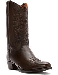 Lucchese Bootmaker Mens Carson-BC Lonestar Calf Cowboy Riding Boot