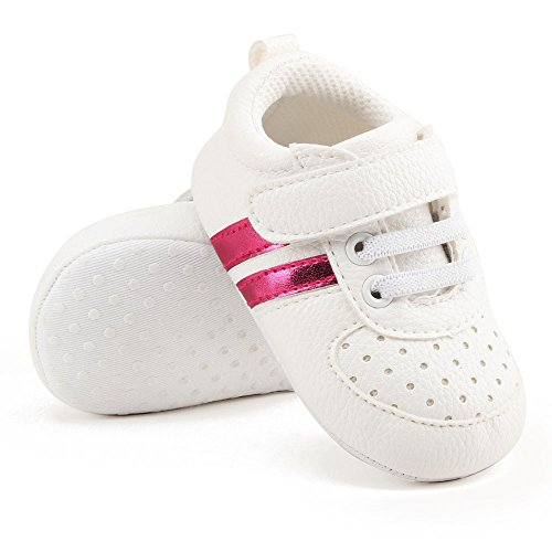 BABY STEPS Flower Ribbon Baby Girl Shoes (Pink) - 8