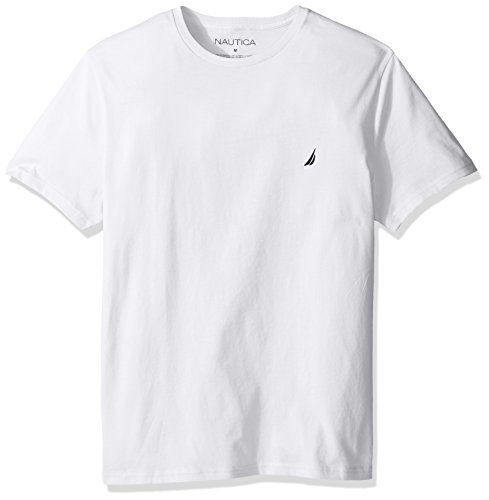 Nautica Men's Short Sleeve Solid Crew Neck T-Shirt, Bright White, (Nautica White Shirt)