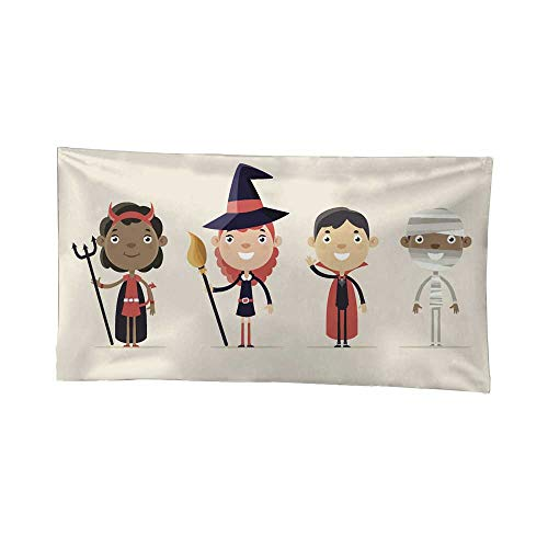 Nicely Tapestries Children in Halloween Costume Wall Tapestries for Bedroom 91W x 60L Inch for $<!--$52.30-->