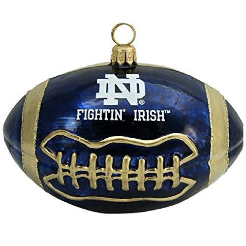(NCAA Notre Dame Fighting Irish Football Blown Glass Ornament)