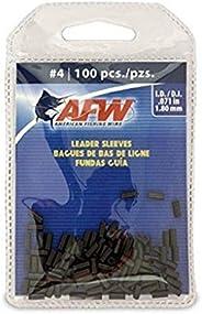 American Fishing Wire Single Barrel Crimp Sleeves, Black, Size 4, 0.071-Inch Inside Diameter, 100-Pieces