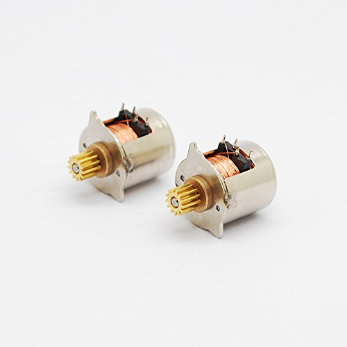 2pcs-5v-18-2-phase-4-wire-micro-stepper-motor-dia-10mm-20-full-steps-stepper-motor-with-output-coope