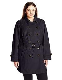 Jones New York Women's Plus-Size Double Breasted Trench Coat