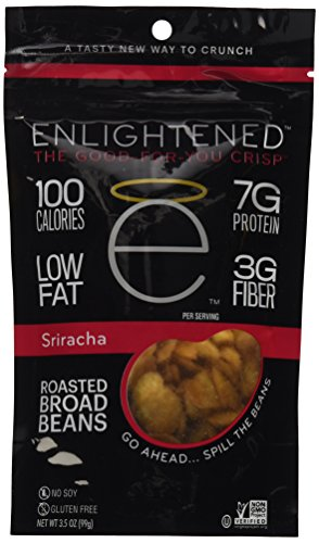 Enlightened Plant Protein Gluten Free Roasted Broad (Fava) Bean Snacks, Sriracha, 3.5 Ounce ()
