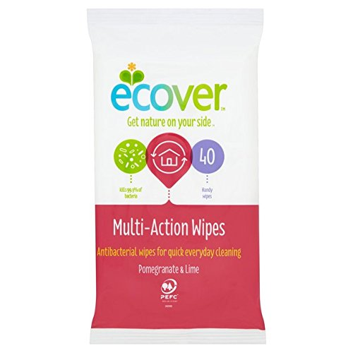 Ecover Antibacterial Wipes 40s (Pack of 10)