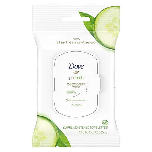 - Go Fresh Stay Fresh Deodorant Wipes, Cucumber & Green Tea, 25 Towelettes
