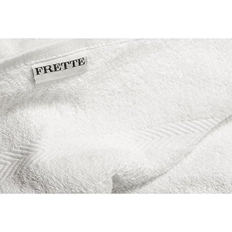 Frette - Toalla confeccionada en felpa de algodón - Medidas 50 x 100 cm - Color blanco: Amazon.es: Hogar