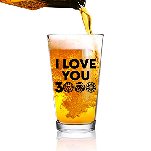 - I Love You 3000 Funny Beer Glass (16 oz)   Birthday Present for Dad   Best Dad Ever Glass for Dad, Step Dad, New Dad or Grandpa   Daddy Gifts From Daughter, Son   Fathers Day Gift