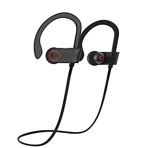 QV900 Wireless Sport Earbuds, Bluetooth Headphones, Sweatproof Headset with Mic, HD Stereo sounds with Bass, up to 8 hours Battery for Gym Running, Hiking, Biking, etc. chic