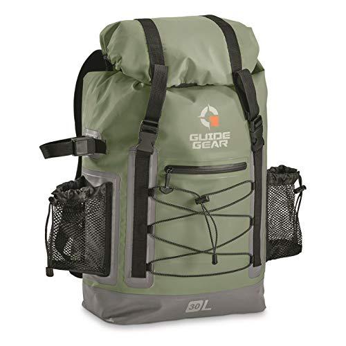 Guide Gear Drybag Backpack, Olive Drab Green, 30 Liter