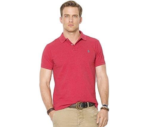 Polo Ralph Lauren Men Custom Fit Mesh Polo Shirt, Flame Heather Small