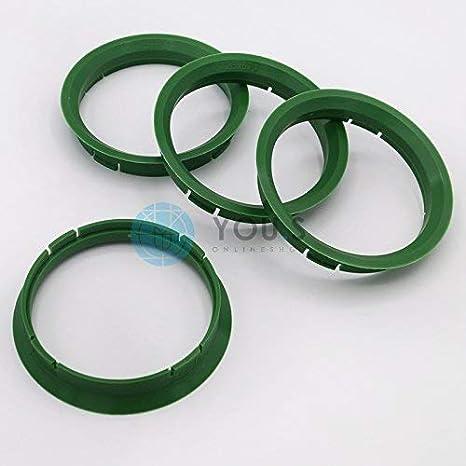 4x Plastique Bagues De Centrage 67,1-57,1 mm pour roues en alliage