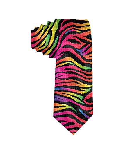 - Formal Rainbow Zebra Print Men Casual Costume Necktie Suit Bowtie