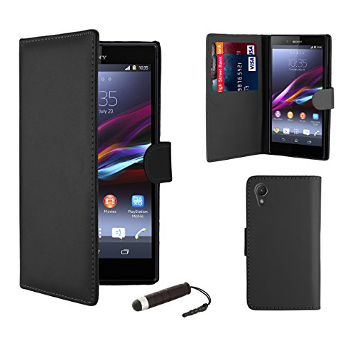 32nd Book wallet PU leather case cover for Sony Xperia Z1 Compact - Black