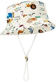 SHIELD CREATOR Baby Sun Hat Summer Girls Boys Bucket Hat with Wide Brim Toddler Sun Protection Hat