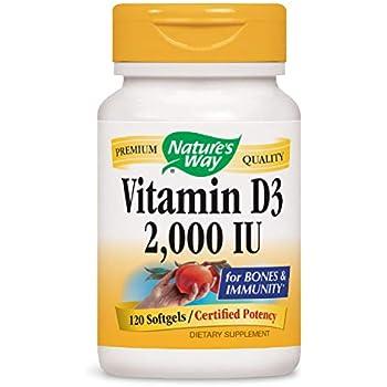 Natures Way Vitamin D-3 2000 Iu, Softgels, 120-Count