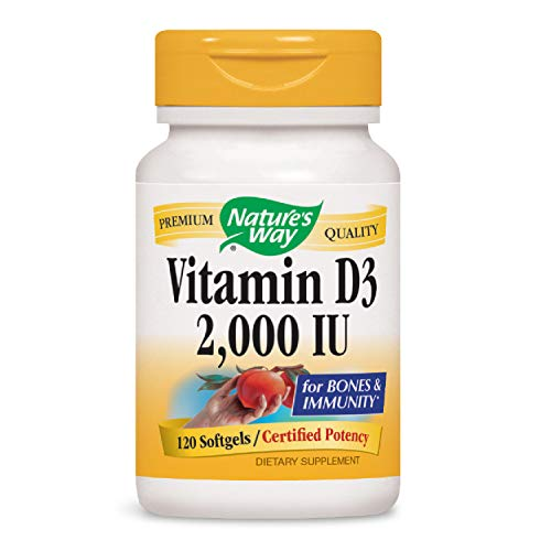 Nature's Way Vitamin D-3 2000 Iu, Softgels, 120-Count