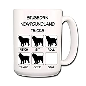Newfoundland Stubborn Tricks Coffee Tea Mug 15 oz 20