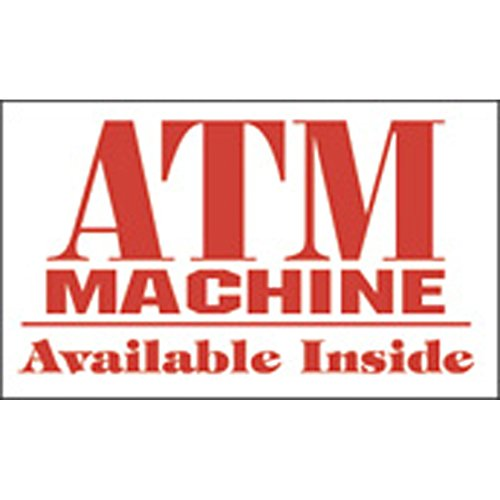 Decals (Pack of 5) - ATM Machine - Double-Sided (2.125