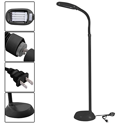 LTL Shop Furniture Black 5Ft Tall Deluxe Sunlight Floor Lamp Natural Reading - At The District Target