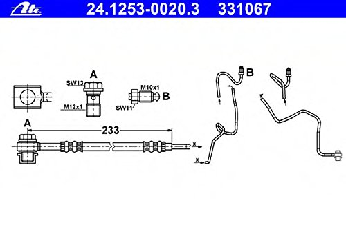 ATE 24.1253-0020.3 Bremsschlauch