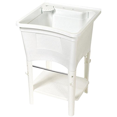 ZPC Zenith Products Corporation Zenith LT2005W ErgoTub Full Featured Freestanding Laundry Tub by ZPC Zenith Products Corporation