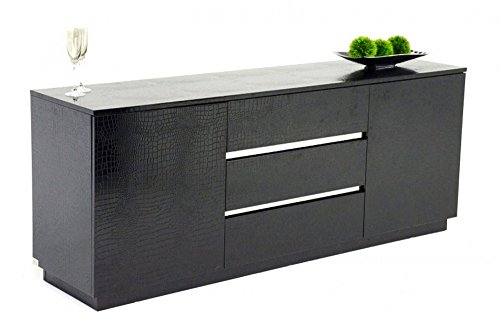 A&X Skyline Modern Black Crocodile Lacquer Buffet by VIG Furniture from VIG Furniture