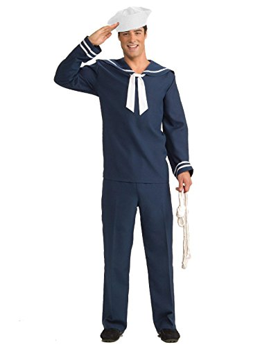Forum Novelties Men's Ahoy Matey Sailor Costume, Blue/White, Standard