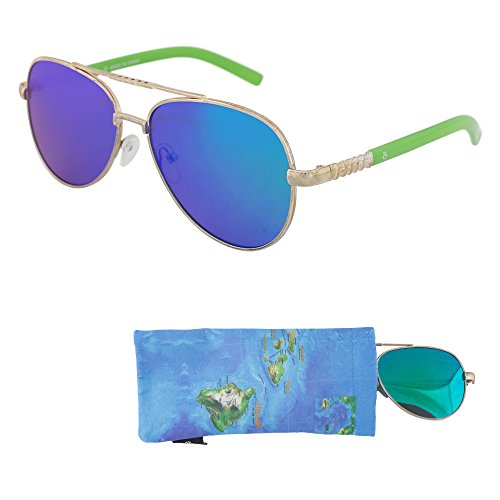 a5eb506d688c REVO Sunglasses for Teens – Stylish Green Mirrored Lenses for Teenagers -  Reduces Glare, 100