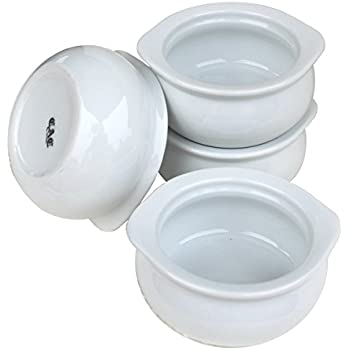 Amazon Com Cac Ceramic Onion Soup Crock Bowl With Pan