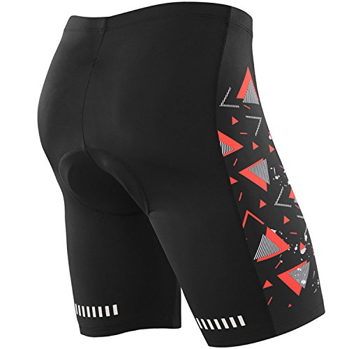 (New Year Near Gear) NOOYME Men's Cycling Shorts 3D Gel Padded Bicycle Riding MEN'S BIKE SHORTS (L, - Bike Triathlon Gear